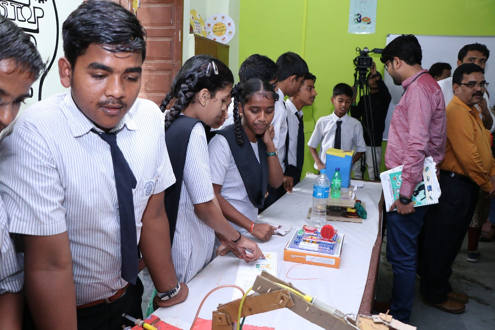 An exhibition of maker projects at a school in Borivali.